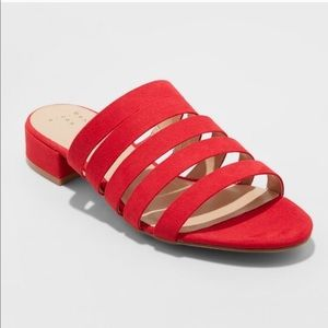a new day amali multi strap red strappy sandals